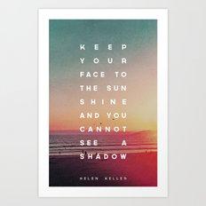 Face to the Sunshine Art Print