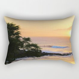 Sunset Surfer Rectangular Pillow