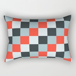 Stainless steel knife - Pixel patten in light gray , light blue and red Rectangular Pillow