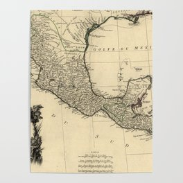 Vintage Map of Mexico (1779) Poster