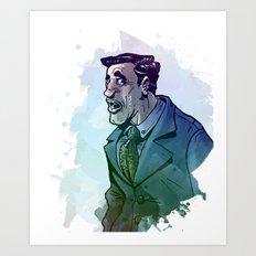 Oficinista at Work Art Print