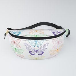 Butterfly Rainbow Fanny Pack