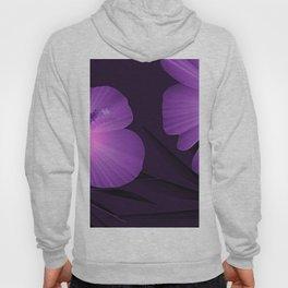 Ultraviolet Hibiscus Tropical Nature Print Hoody