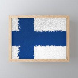 Flag of Finland - Extruded Framed Mini Art Print