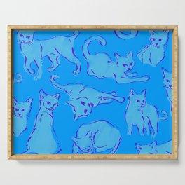 Cat Crazy blue Serving Tray