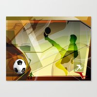 soccer Canvas Prints featuring Soccer by Tami Cudahy