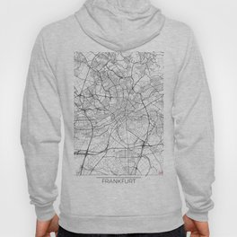 Frankfurt Map White Hoody
