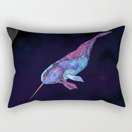 Starwhal Watercolor Painting by Imaginarium Creative Studios Rectangular Pillow
