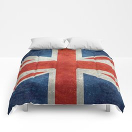UK flag, High Quality bright retro style Comforters
