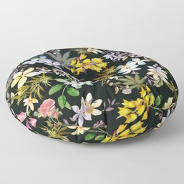 Flowers with Hidden Pot Leaves Floor Pillow