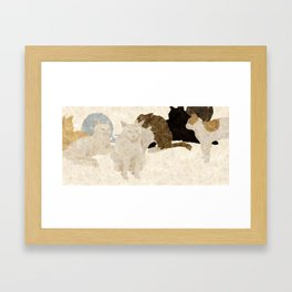 yarn ball Framed Art Print