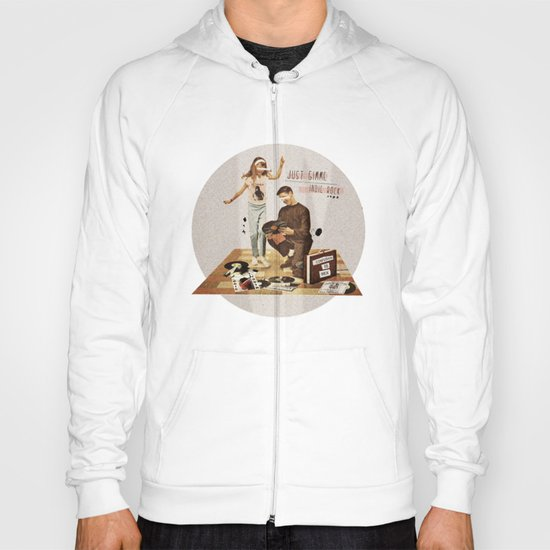 Just Gimme Indie Rock   Collage Hoody