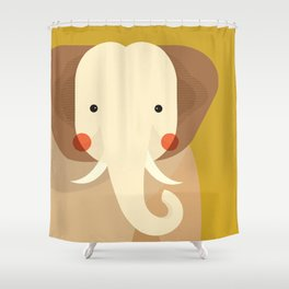 Elephant, Animal Portrait Shower Curtain