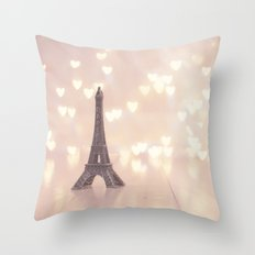 Left my heart in paris Throw Pillow