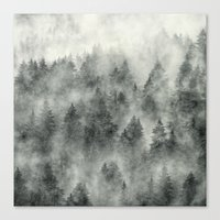 hiking Canvas Prints featuring Everyday by Tordis Kayma