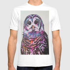 Something like an Owl MEDIUM Mens Fitted Tee White