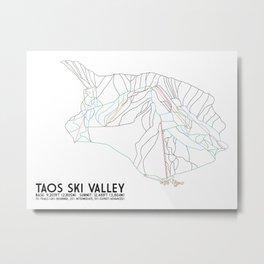 Taos Ski Valley, NM - Minimalist Trail Map Metal Print