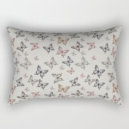 Butterfly kisses repeating pattern Rectangular Pillow