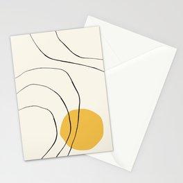 Minimalistic Mid century modern, mid-century wall art, print, geometric wall art, abstract wall art, Stationery Cards