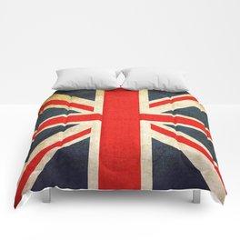 Vintage Union Jack British Flag Comforters