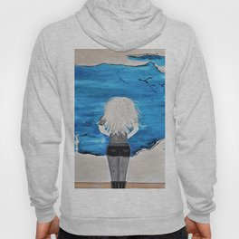 Enticing Interlude. Illustrated for Author Michelle Mankin. Girl Sunset Blue Blonde Sky Hoody
