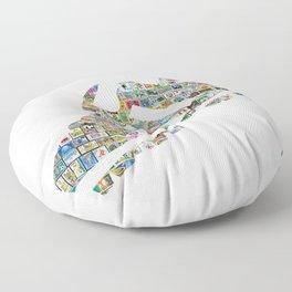 Philately Copa Mundial Soccer Cleats Floor Pillow