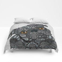 Black Pug 2016 Comforters