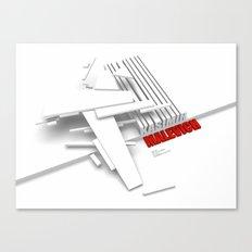 Malevich 3D [B&W] Canvas Print