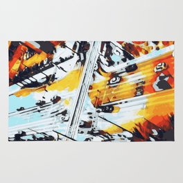 road in the city Rug