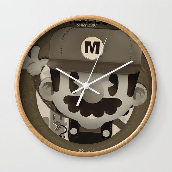 Mario Bros Fan Art Wall Clock