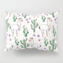 Llama Llamarama + Cactus Pillow Sham