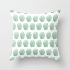 Watercolour polkadot Throw Pillow