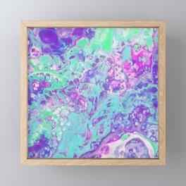 Fluid Acid Pool Marble Framed Mini Art Print