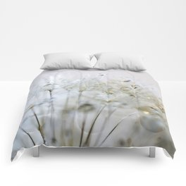 Gold and Silver Dandelion Comforters