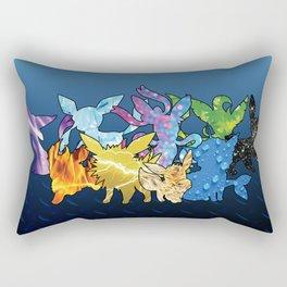"""""""The Dream Team"""" - X & Y Eeveelutions Rectangular Pillow"""