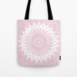 Boho Pink Mandala Tote Bag
