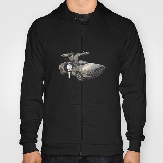 Stormtroooper in a DeLorean - star wars Hoody