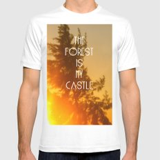 The forest Mens Fitted Tee MEDIUM White