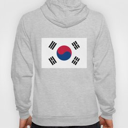 National flag of South Korea, officially the Republic of Korea, Authentic version - color and scale Hoody