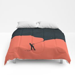 Night fills up the sky Comforters