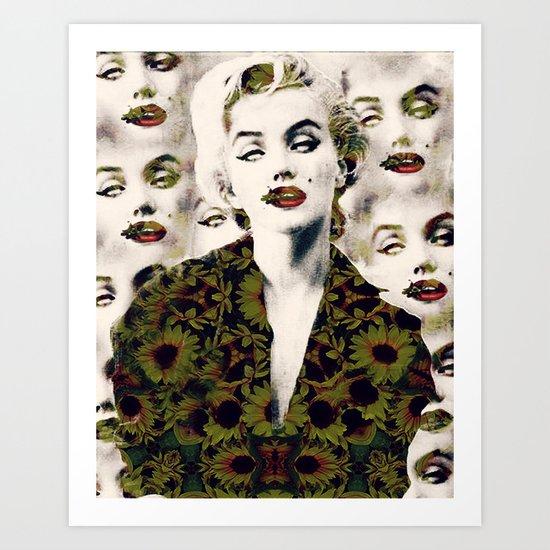 Monroe's buzz Art Print