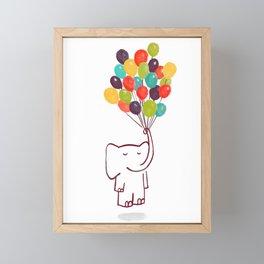 Flying Elephant Framed Mini Art Print