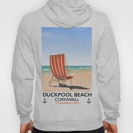 Duckpool Beach Cornwall travel poster Hoody