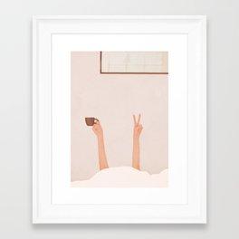Good Peaceful Morning Framed Art Print