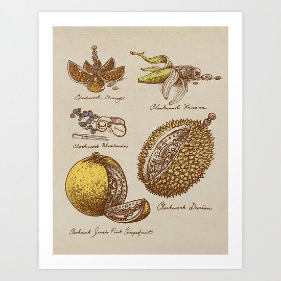 Steampunk Fruit  Art Print