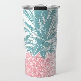 Simple Modern Boho Pineapple Drawing Travel Mug