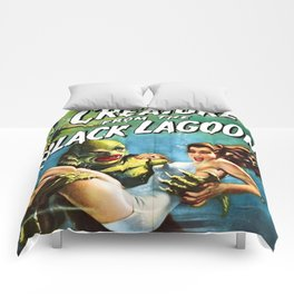 Creature from the Black Lagoon, vintage horror movie poster Comforters