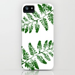Fern green iPhone Case