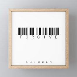 forgive Framed Mini Art Print