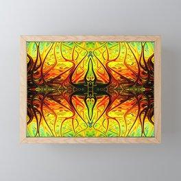 Arachnid Alien Firegrass by Chris Sparks Framed Mini Art Print